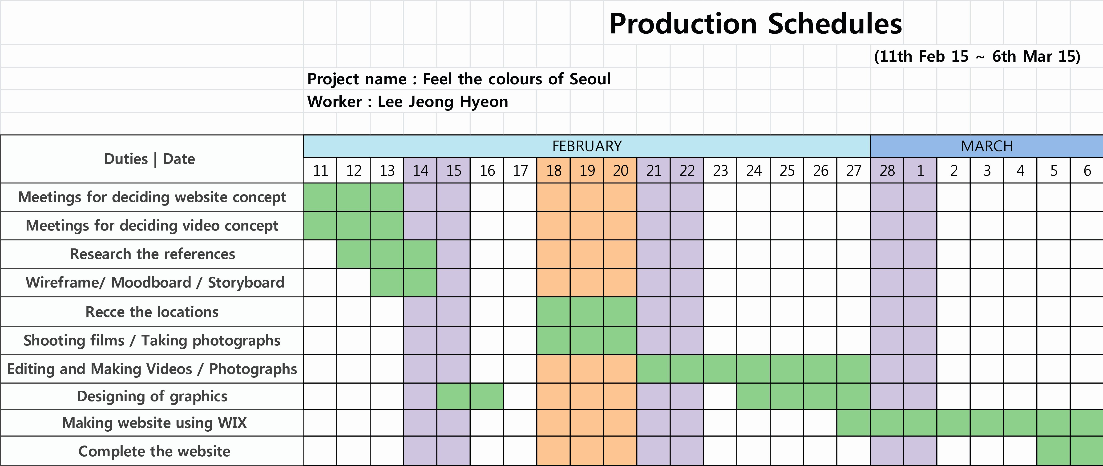 Video Production Schedule Template Elegant 2 3 Production Schedules – 2015mirimstudent36