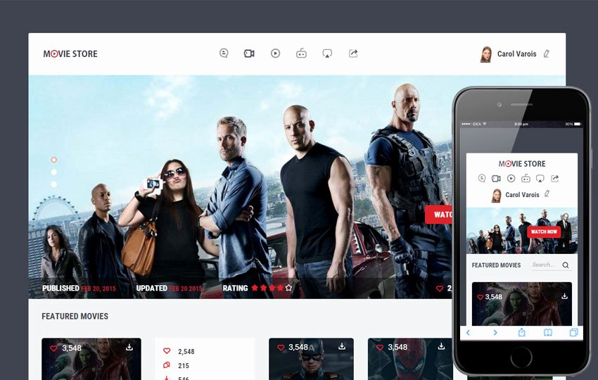 Video Production Web Template Awesome Movie Store A Entertainment Category Flat Bootstrap