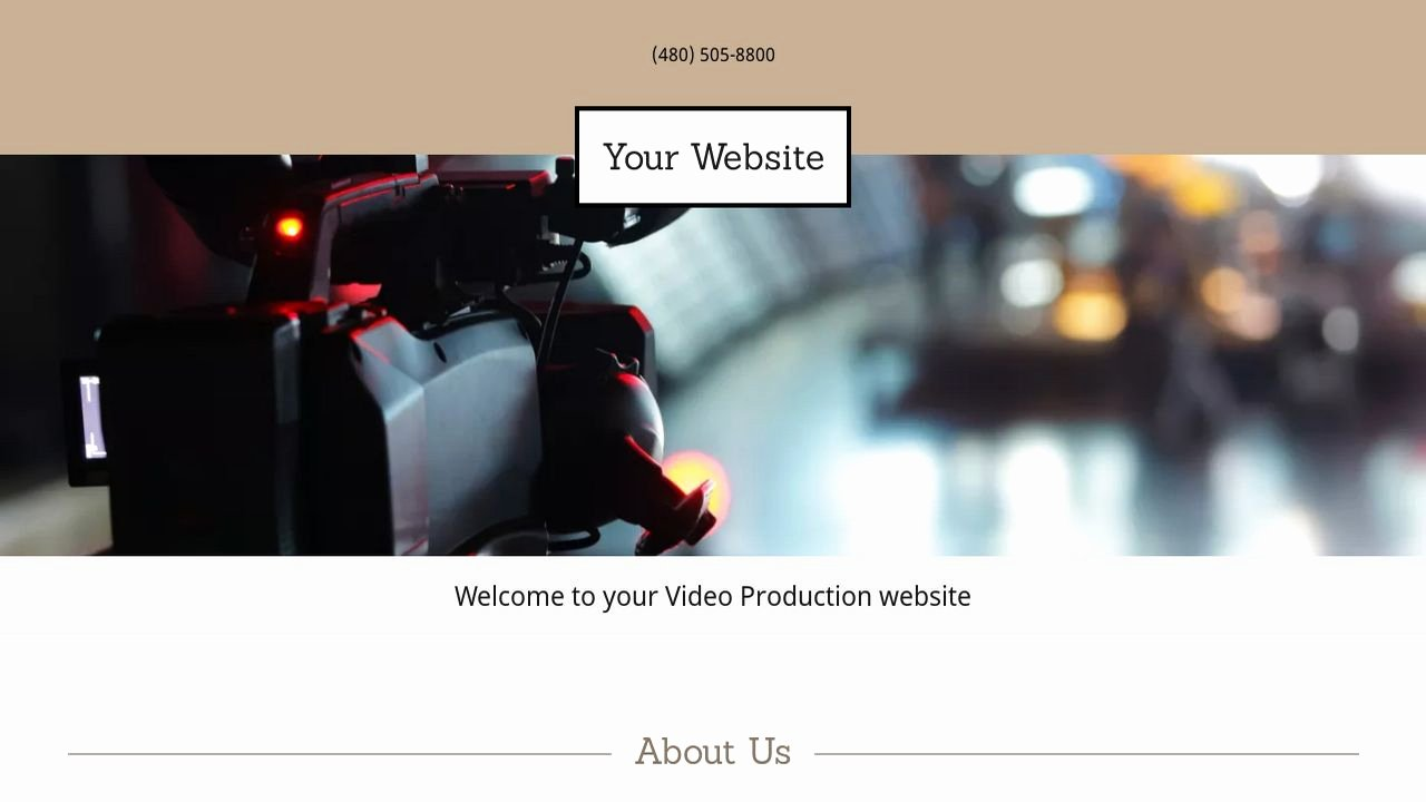 Video Production Web Template Awesome Video Production Website Templates