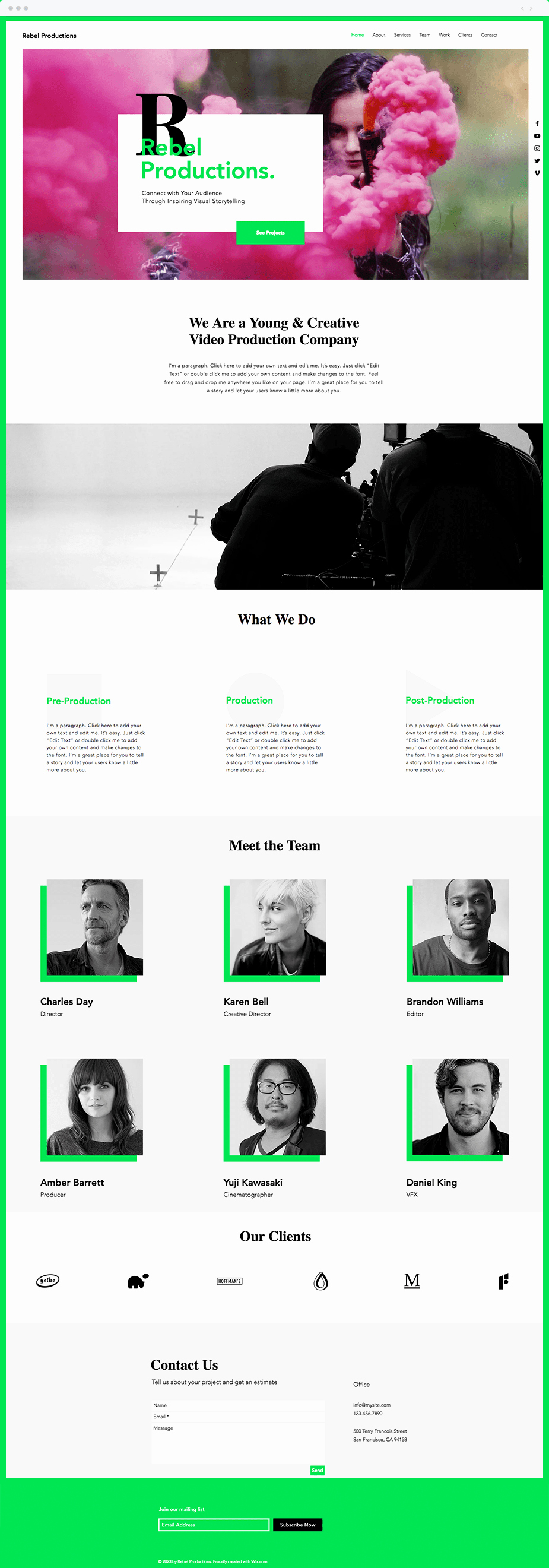 Video Production Web Template Beautiful 12 Stunning Artist Website Templates for Any Creative Industry