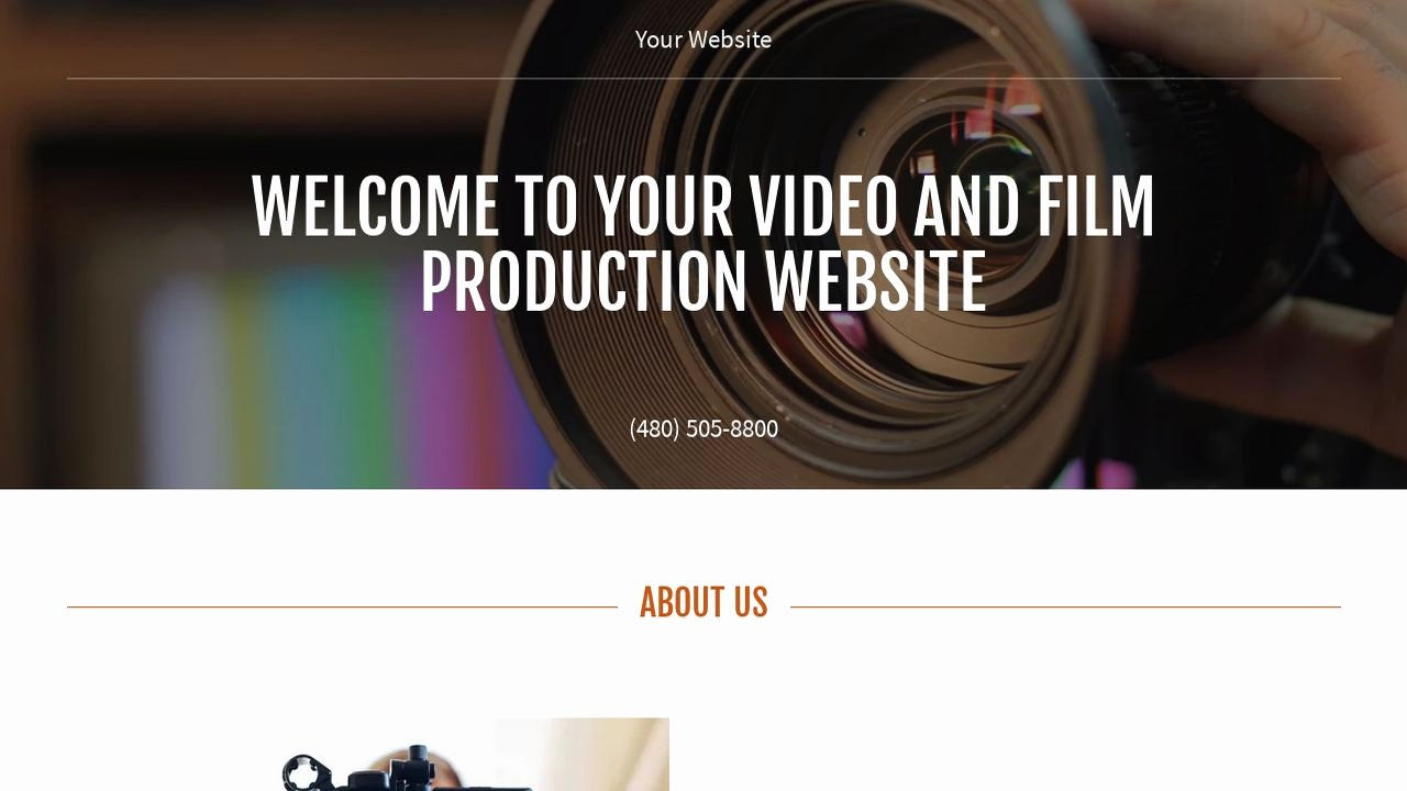 Video Production Web Template Best Of Video and Production Website Templates