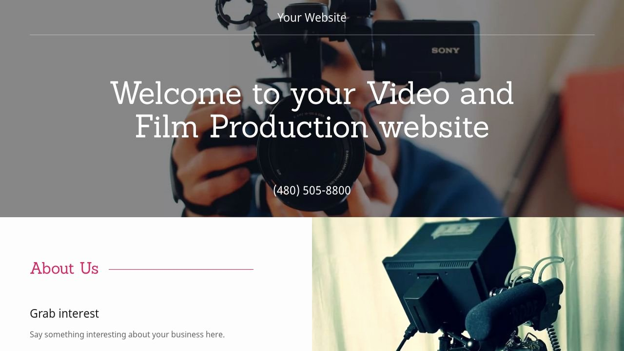 Video Production Web Template Elegant Example 17 Video and Production Website Template