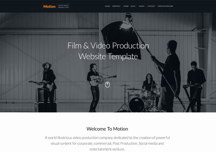 Video Production Web Template Elegant Motion Video Production Pany Responsive Template Ease