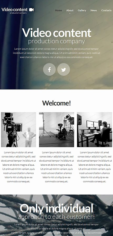 Video Production Web Template Elegant Video Production Website Template