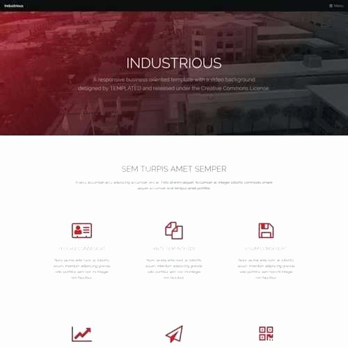 Video Production Web Template Elegant Video Website Template Free Download Production Website