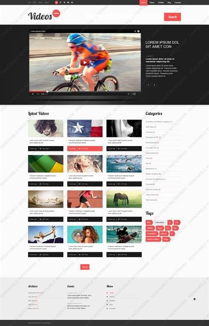 Video Production Web Template Elegant Web Design Websites Videos Website Templates Media Video