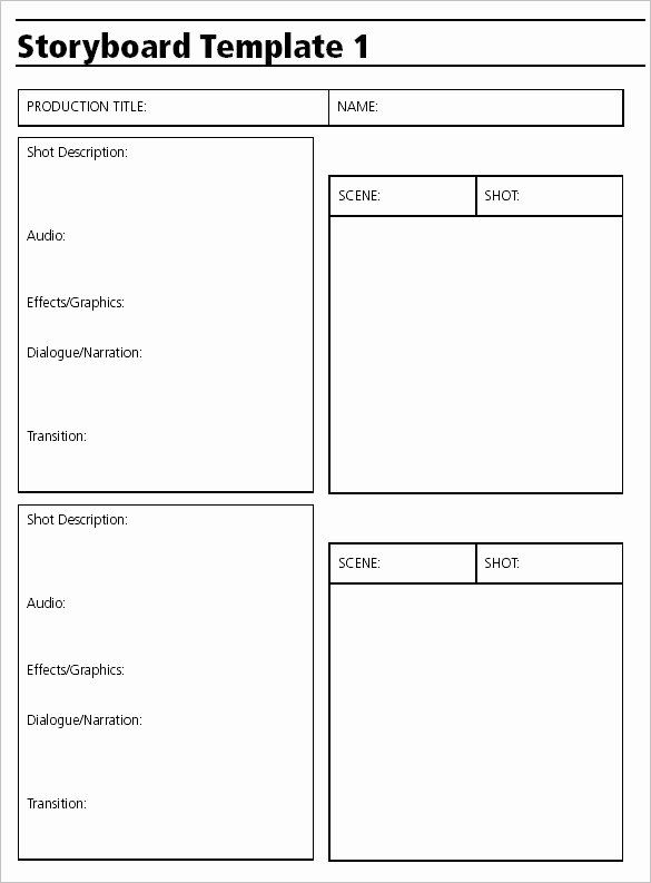Video Production Web Template Fresh 7 Audio & Video Storyboard Templates Doc Pdf