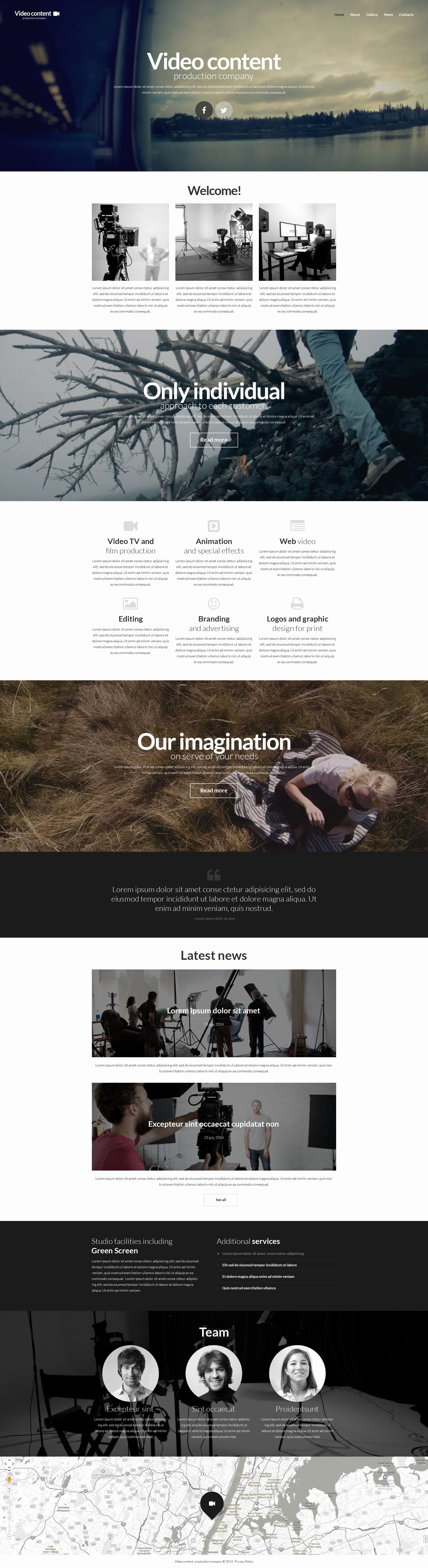 Video Production Web Template Fresh Video Production Website Template
