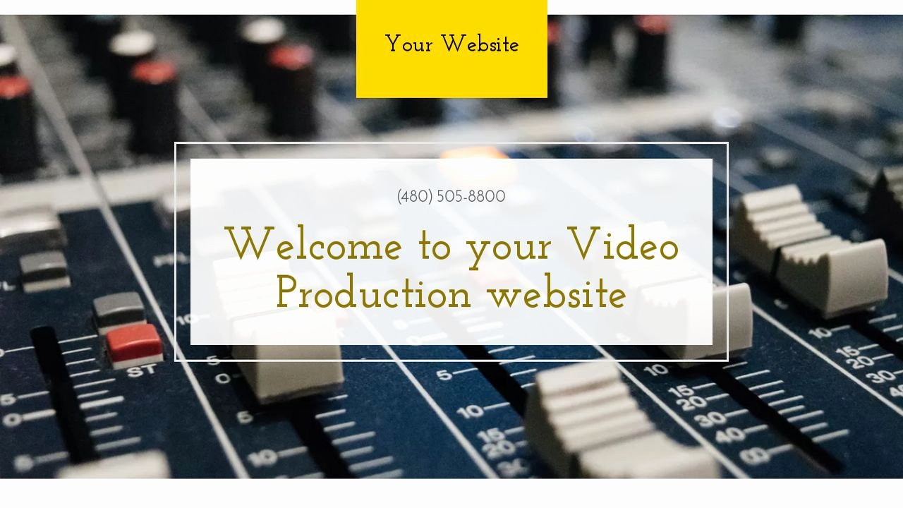 Video Production Web Template Inspirational Video Production Website Templates