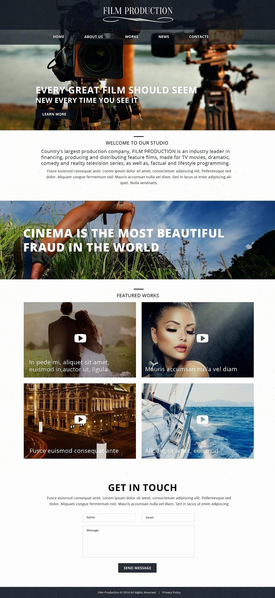 best industrial website templates free premium film production pany template video