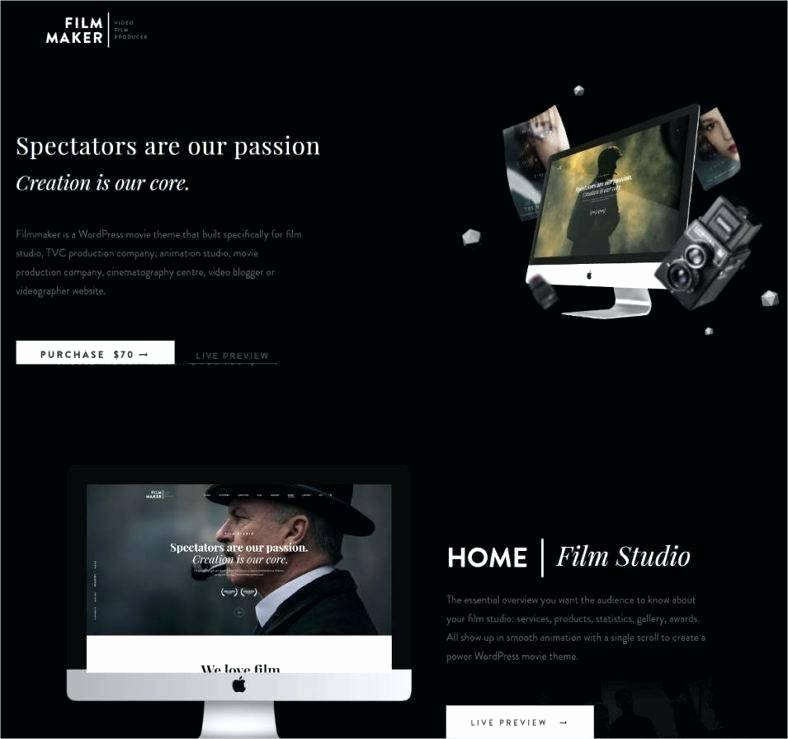 Video Production Web Template Luxury Website Template Entertainment Template
