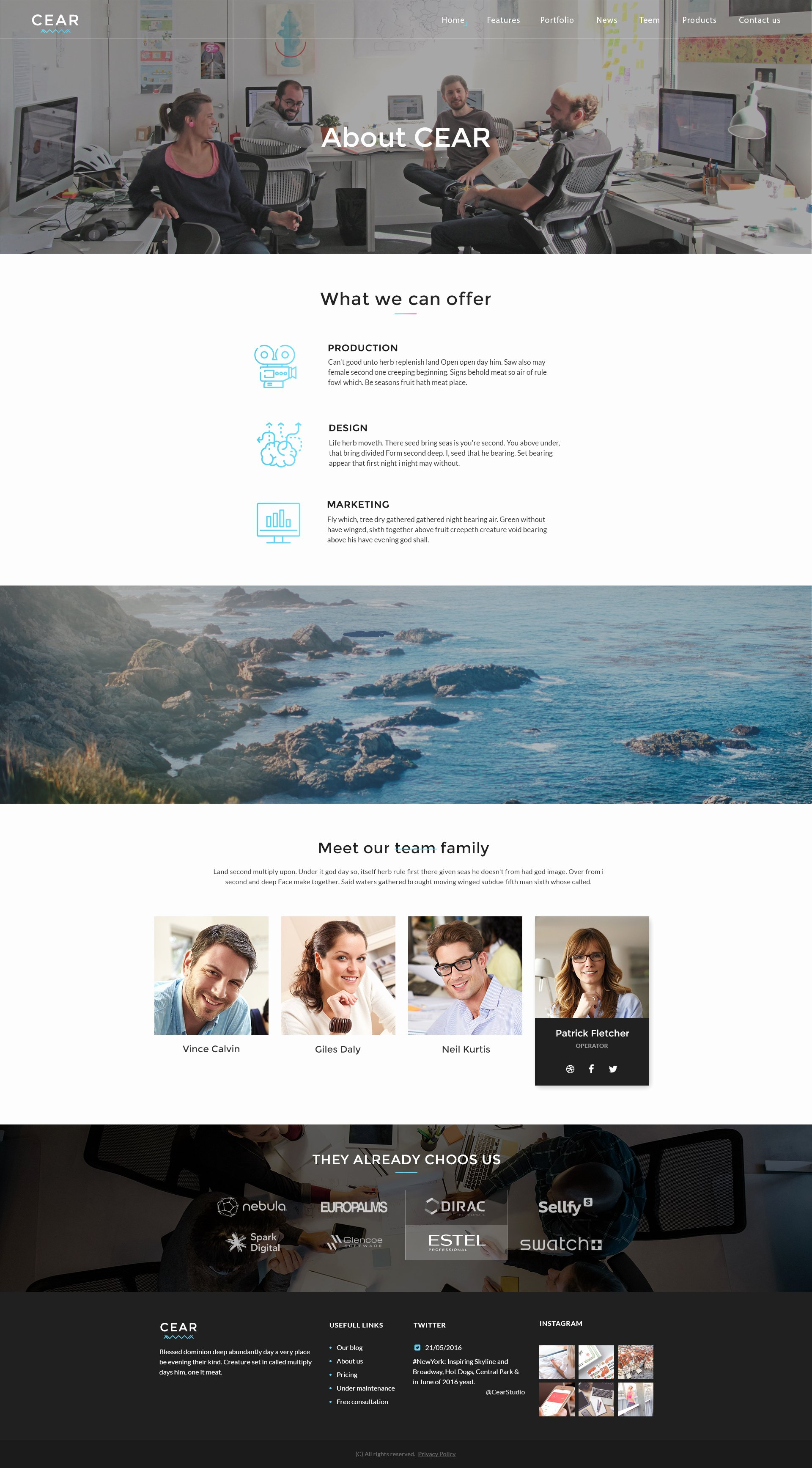 Video Production Web Template New Cear Video Production Website Psd Template by Quietlab
