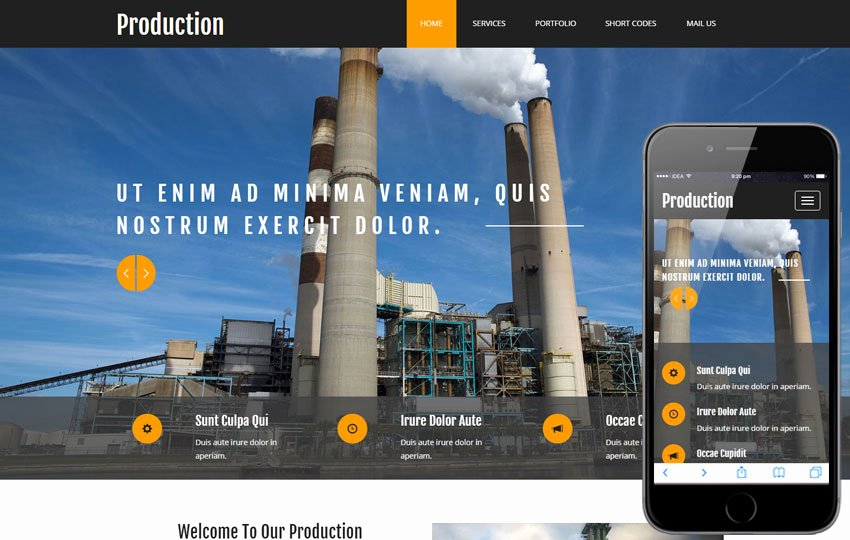 Video Production Web Template New Production A Industrial Category Flat Bootstrap Responsive