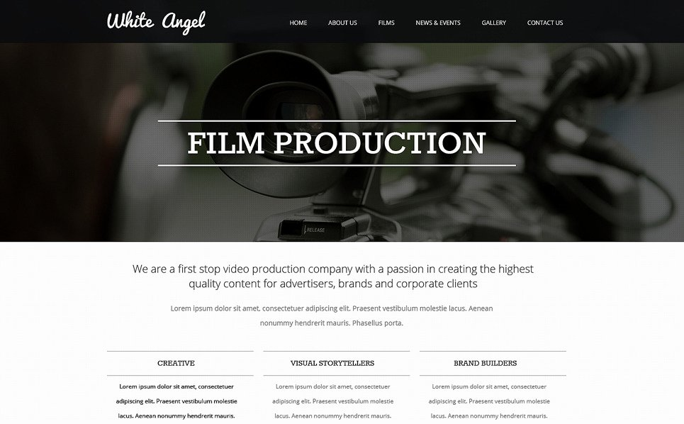Video Production Web Template New Videographer Responsive Website Template