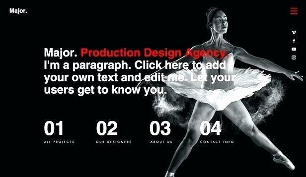 Video Production Web Template Unique Dance Studio Website Template New Screenshots Big