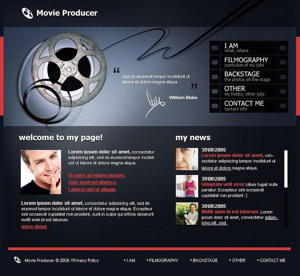 Video Production Web Template Unique Movie Flash Template