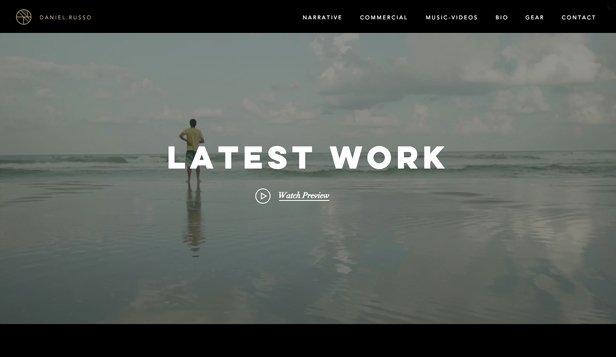 Video Production Web Template Unique Portfolios Website Templates Portfolio & Cv