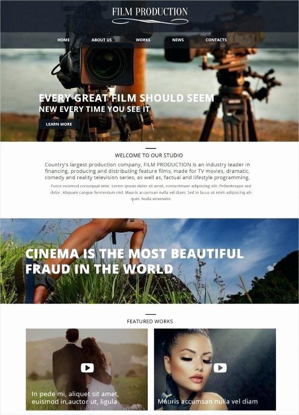 Video Production Web Template Unique Video Production Website Template