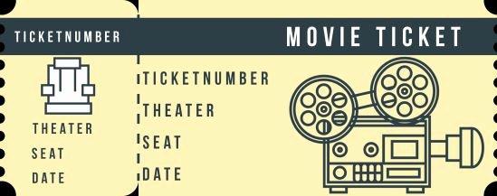 Vintage Movie Ticket Template Best Of Movie Ticket Template 20 attractive and Customized Ticket