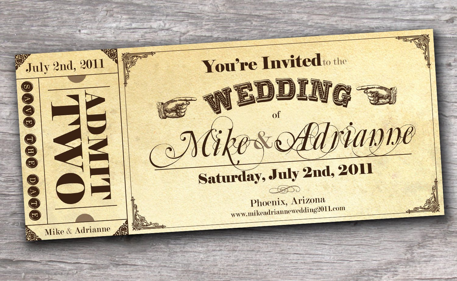 Vintage Movie Ticket Template Elegant Vintage Western Ticket Save the Date Wedding Invitation Sample