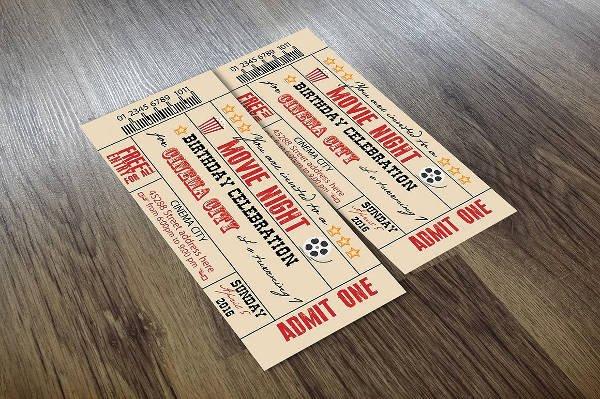 Vintage Movie Ticket Template Fresh 37 Ticket Templates Download