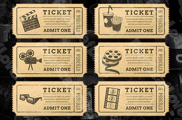 Vintage Movie Ticket Template Inspirational 115 Ticket Templates Word Excel Pdf Psd Eps