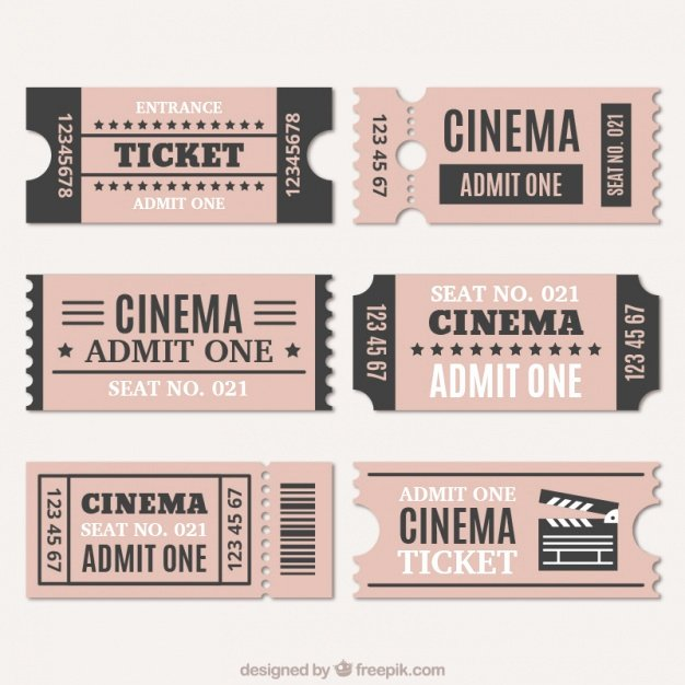 Vintage Movie Ticket Template Inspirational assortment Of Cinema Tickets In Vintage Style Vector