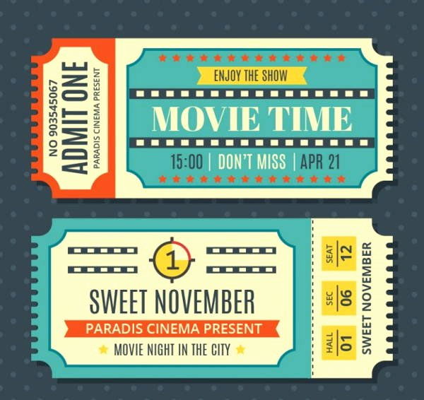 Vintage Movie Ticket Template Lovely 12 Vintage Ticket Templates Psd Ai Word