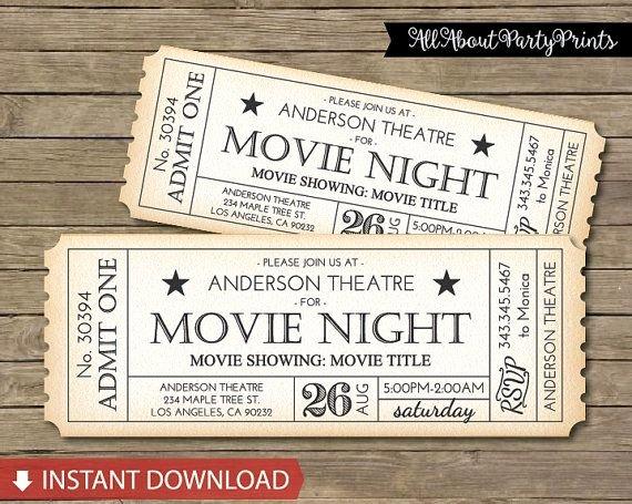 Vintage Movie Ticket Template Luxury Best 25 Movie Tickets Ideas On Pinterest