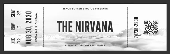 Vintage Movie Ticket Template Luxury Black and White Vintage Movie Ticket Templates by Canva