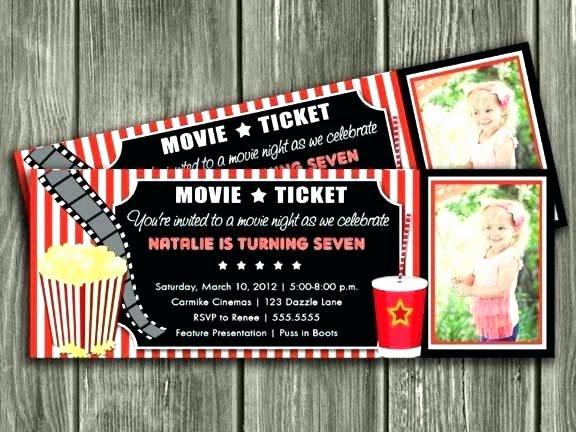 Vintage Movie Ticket Template Luxury Free Printable Movie Ticket Invitations – Chunsecsw