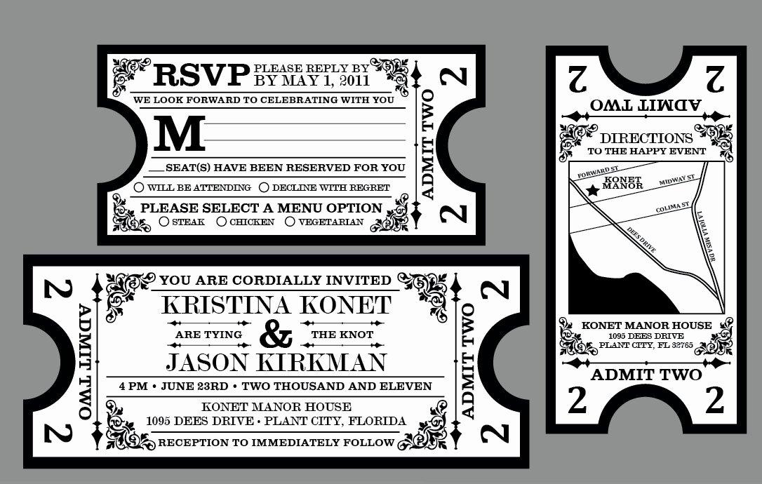Vintage Movie Ticket Template Luxury Movie themed Wedding Invitation Templates