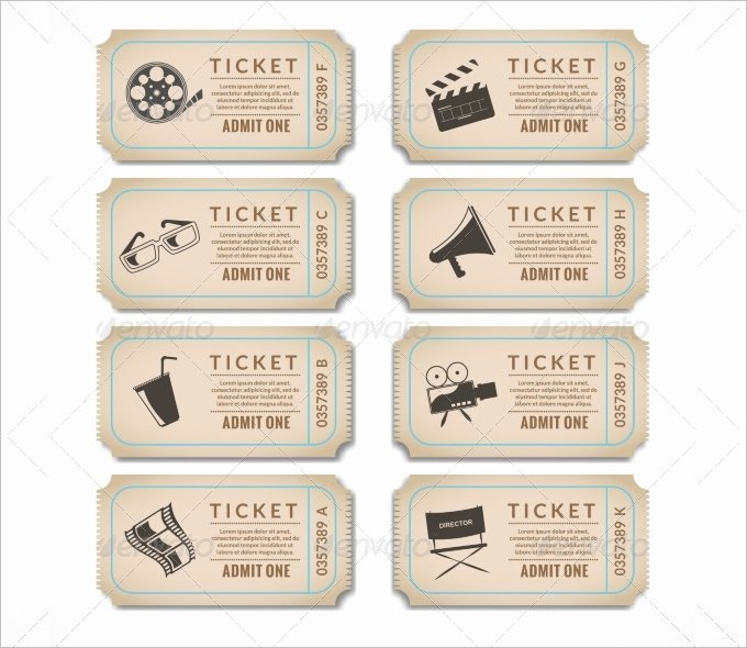 Vintage Movie Ticket Template New 16 Movie Ticket Templates Psd Ai Word