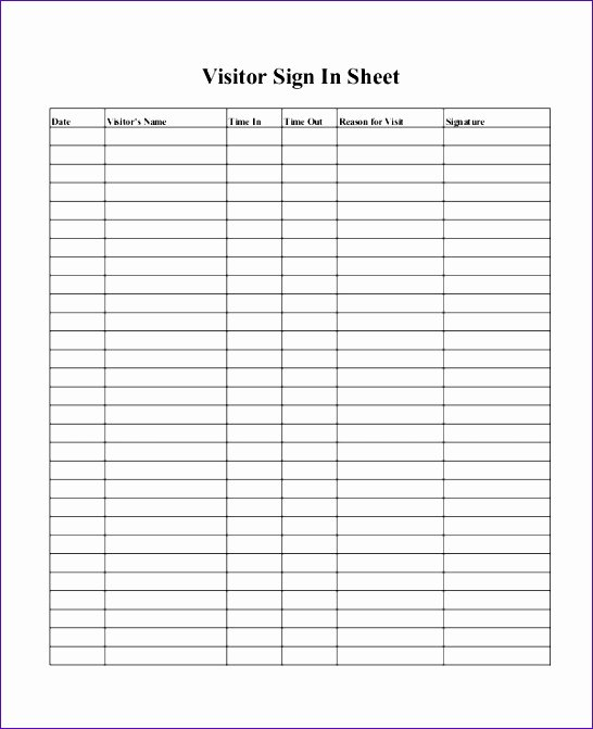 Visitor Log Template Excel Beautiful 10 Visitor Log Template Excel Exceltemplates