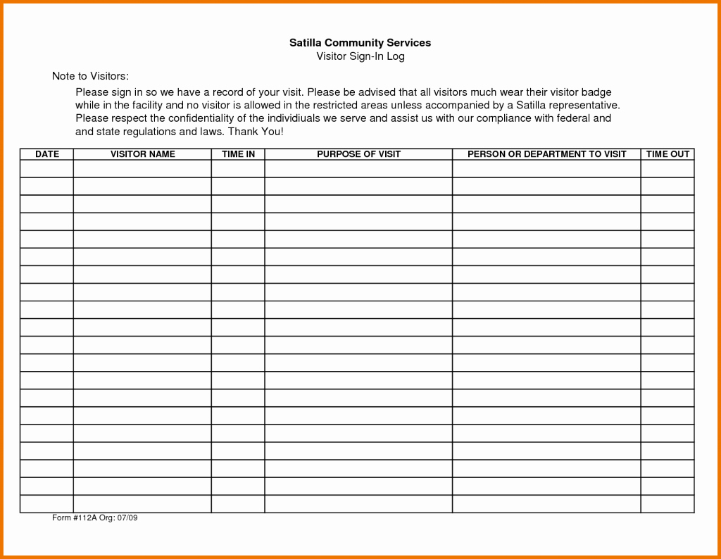 Visitor Log Template Excel Beautiful Sheet Appointment Template