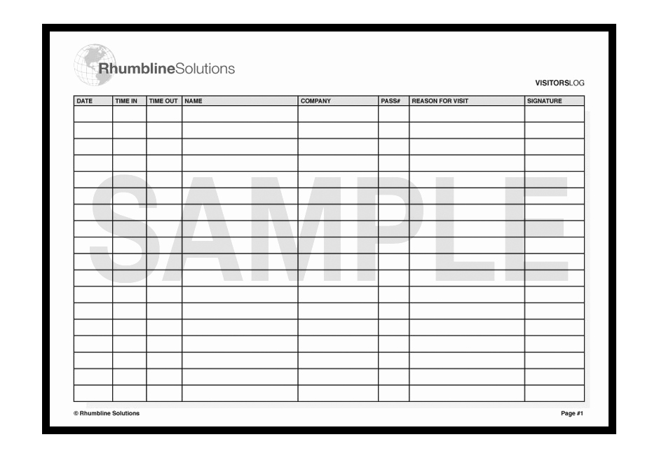 Visitor Sign In Sheet Template Inspirational Visitor Sign In Sheet Template