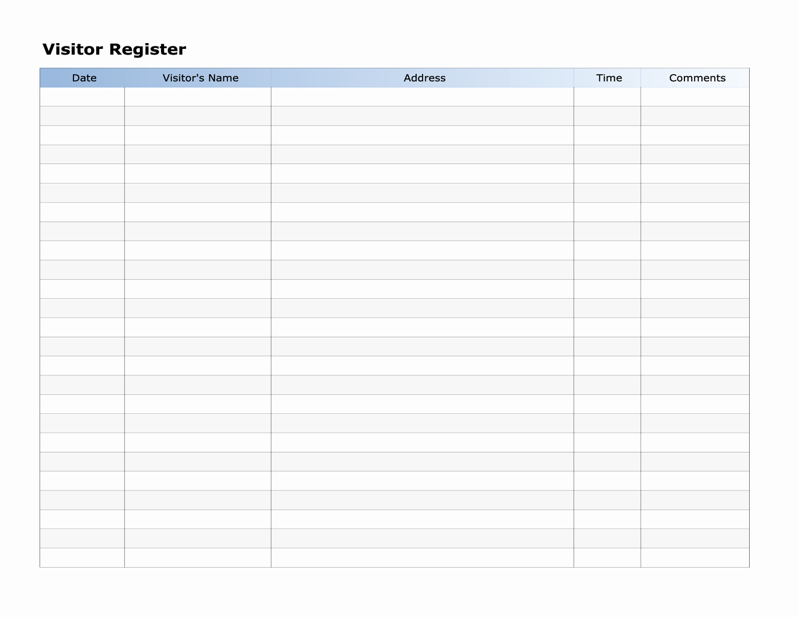 Visitor Sign In Sheet Template New Potluck Sign Up Sheet Word for events