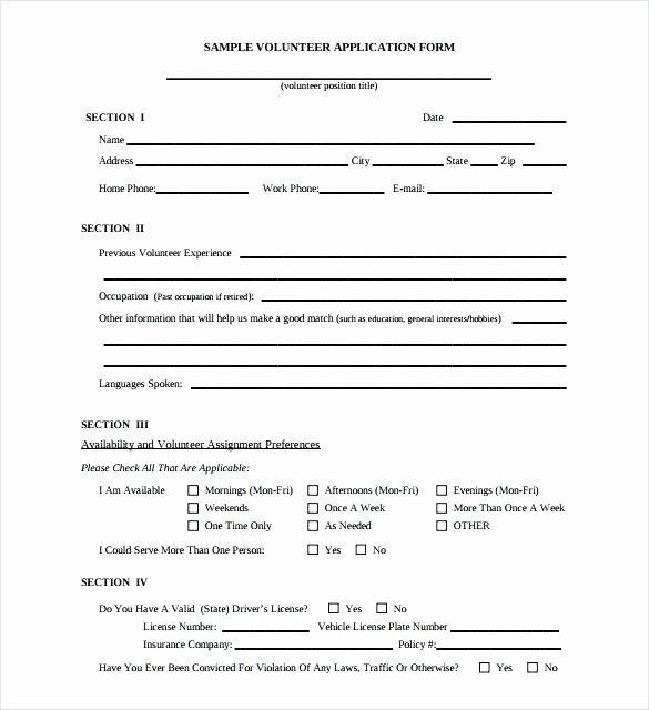 Volunteer Application form Template Beautiful Church Registration form Template Word Volunteer