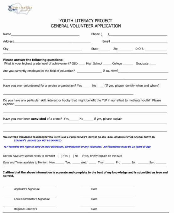 Volunteer Application form Template Beautiful Volunteer Application Templates Word Excel Samples