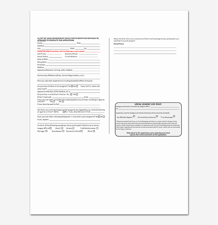 Volunteer Application form Template Inspirational Volunteer Application Template 20 forms Doc & Pdf format