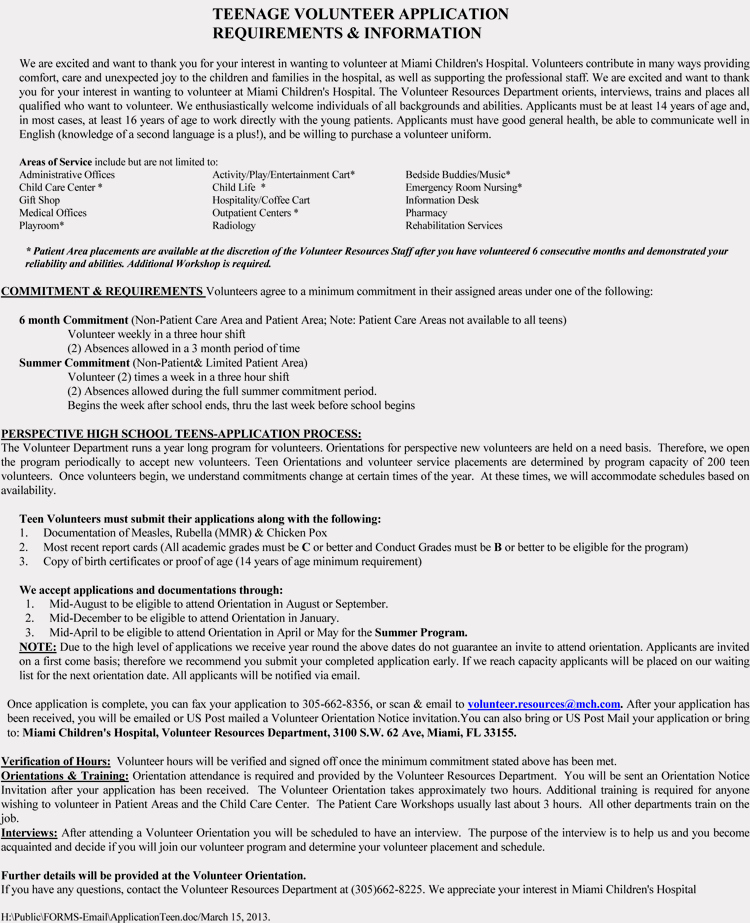 Volunteer Application form Template Unique Blank Volunteer Application form Templates Download