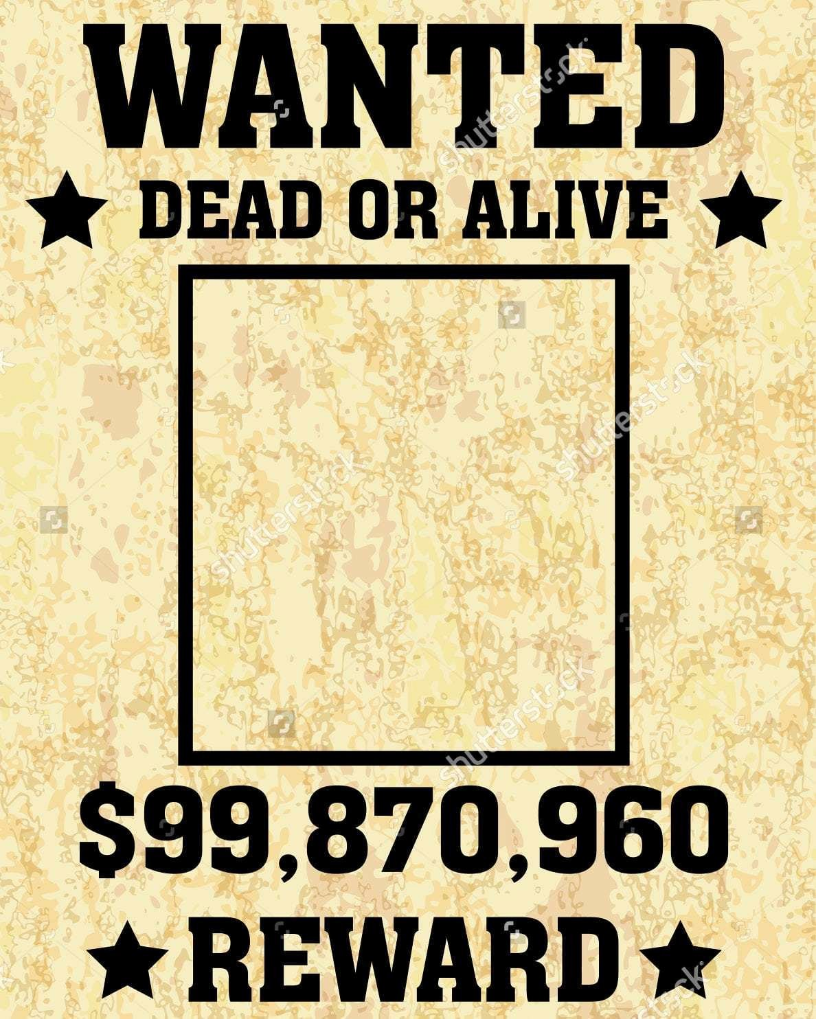 Wanted Poster Template for Word Awesome 6 Wanted Poster Templates Word Excel Templates