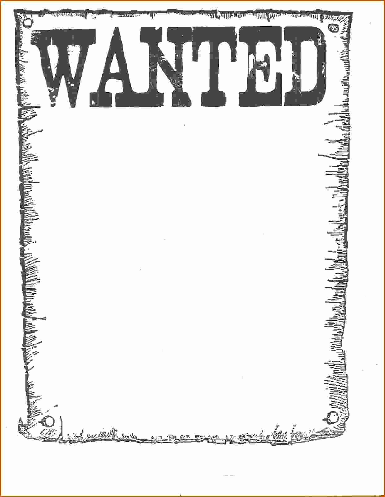 Wanted Poster Template for Word Awesome 7 Wanted Poster Template Microsoft Word