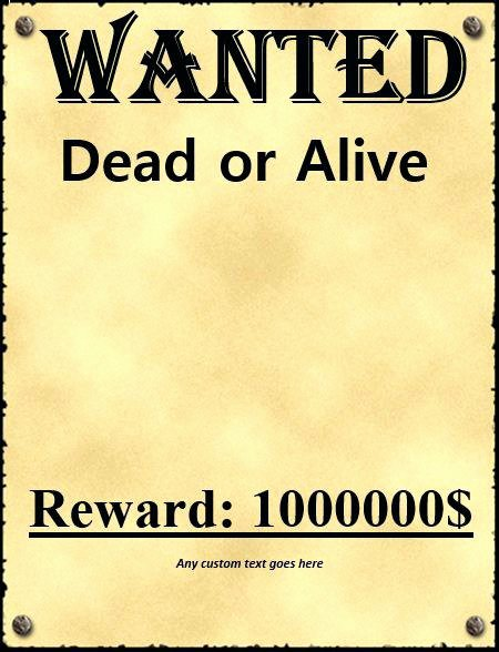 Wanted Poster Template for Word Awesome Wanted Poster Template Download Free Templates and Old