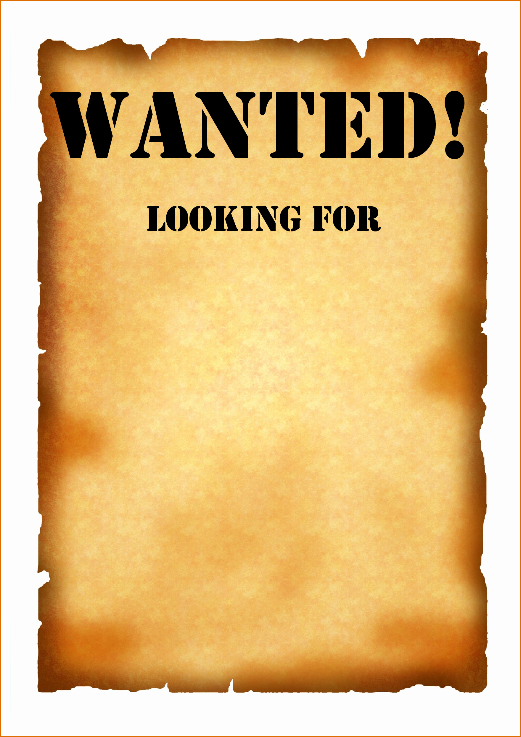 Wanted Poster Template for Word Beautiful 7 Wanted Poster Template Pdf