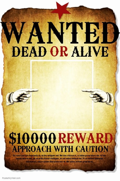 Wanted Poster Template for Word Elegant Wanted Template