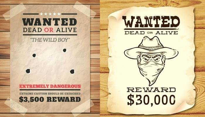 Wanted Poster Template for Word Fresh Wanted Poster Template Doc Wild West In Vector Sample