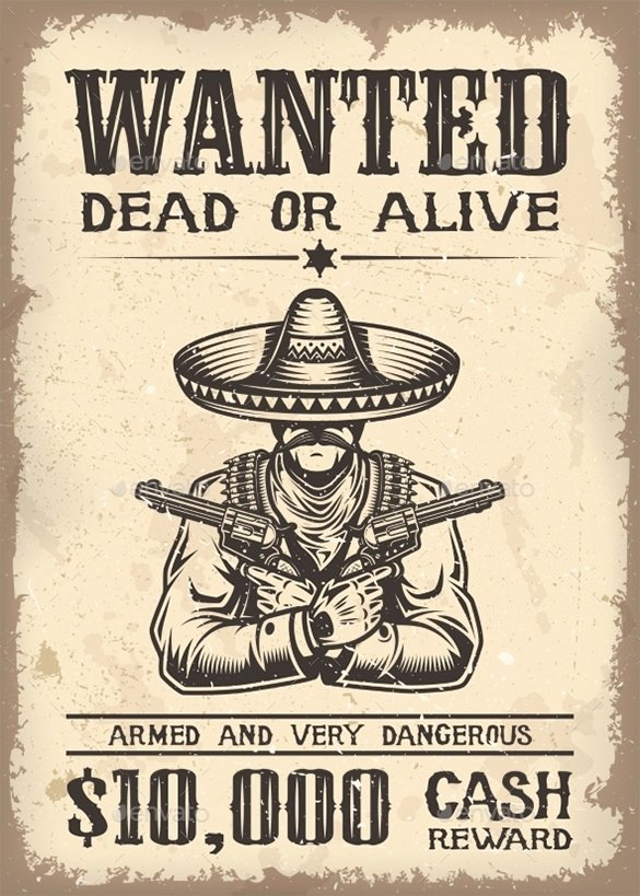 Wanted Poster Template Free Printable Beautiful 13 Western Wanted Poster Free Printable Word Pdf Psd