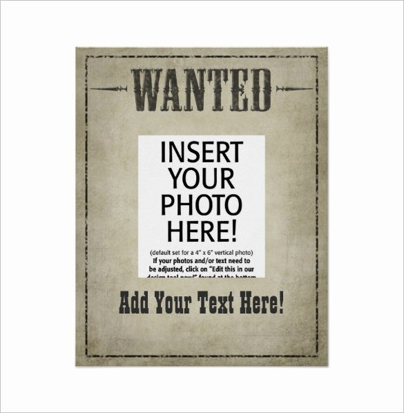Wanted Poster Template Free Printable Beautiful 17 Western Wanted Poster Templates Free Printable