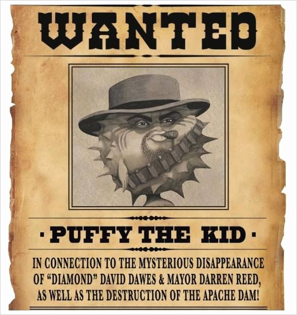 Wanted Poster Template Free Printable Beautiful Wanted Poster Book Report Project Templates Template